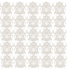 Scarab bug insect tribal tattoo semaless pattern vector