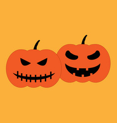 set of halloween pumpkins sign 509 vector image
