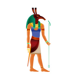 Seth egyptian god set ancient egyptian god vector