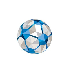 Soccer Football Ball Low Polygon vector