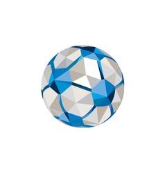 Soccer football ball low polygon vector