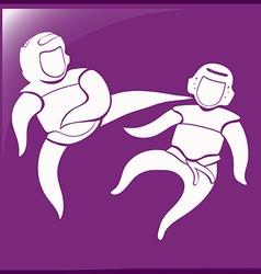 Sport symbol for taekwondo vector image