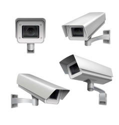 Surveillance camera set vector