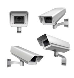 Surveillance camera set vector image