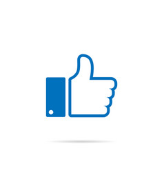 thumb up icon isolated in white background vector image