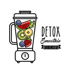 Tropical Detox icon Smoothie and Juice design vector image