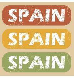 Vintage Spain stamp set vector image