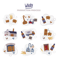 Whiskey production process with distillation vector
