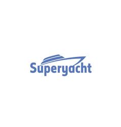 yacht-logo vector image