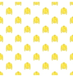 Yellow men shirt pattern cartoon style vector