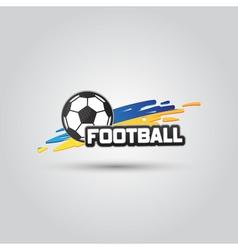 Ball symbol Ukraine Football Logo Badge Sport vector image