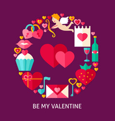 be my valentine flat concept vector image