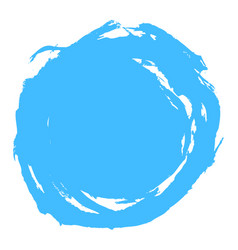 blue brush stroke circle shape vector image vector image