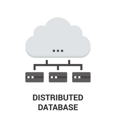 distributed database icon vector image vector image