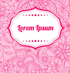 Flower-background-with-banner vector image vector image