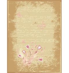 grunge letter of flowers vector image