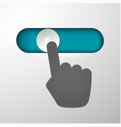 hand moves the button vector image