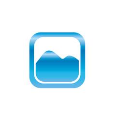 picture of landscape symbol vector image vector image