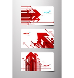 Set of gift cards with arrows vector image vector image