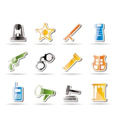 simple law and crime icons vector image