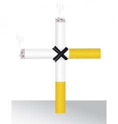 smoking kills you vector image