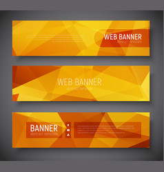 web banner standard size template abstract vector image