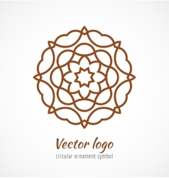 Abstract red outline ornament symbol logo vector image
