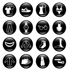 black clothes icons vector image