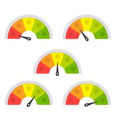 customer satisfaction meter vector image