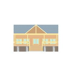 Flat Design Wooden Log Building vector image vector image