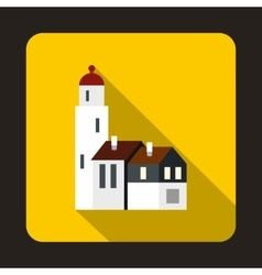 Houses icon flat style vector image vector image