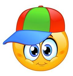 kid emoticon vector image