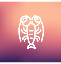 Lobster thin line icon vector image