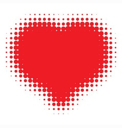 Red Heart Halftone vector image