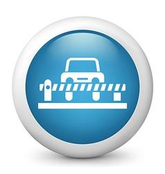 Carpark Glossy Icon vector image