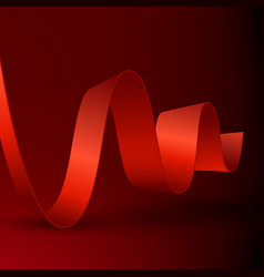 abstract ribbon on dark background vector image