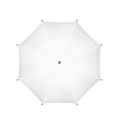 Blank White Umbrella Top View vector image vector image