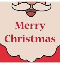 Christmas white Santa Claus beard vector image