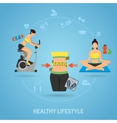 Healthy Lifestyle and Fitness Concept vector image vector image