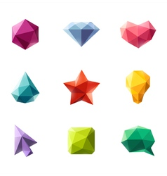 Polygonal geometric figures - set of elements vector image vector image