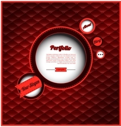 Retro web design template vector image