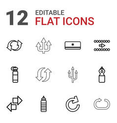 12 refresh icons vector
