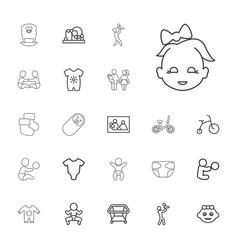 22 newborn icons vector image