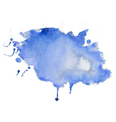abstract blue watercolor stain texture background vector image