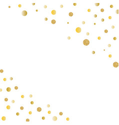 Abstract gold glitter background with polka dot vector