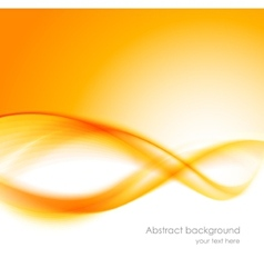 Abstract orange wavy background vector