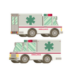 Ambulance flat vector