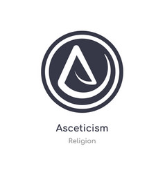 Asceticism icon isolated icon from vector