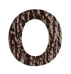 Bark letter O vector