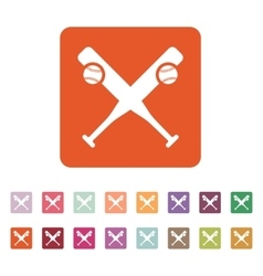 Baseball icon Sport symbol Flat vector image